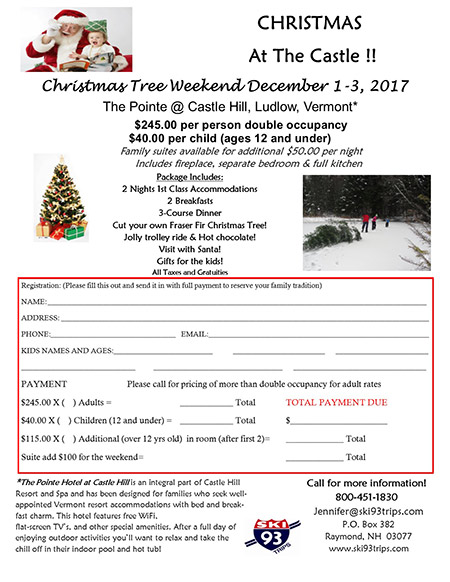 Christmas at the Castle - Christmas Tree Weekend 2016
